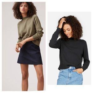 Everlane wool mockneck thick sweater xxs